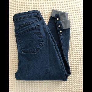 NYDJ Crop Cuff Lift & Tuck Stretch Jean Size 10